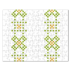 Vintage Pattern Background  Vector Seamless Rectangular Jigsaw Puzzl