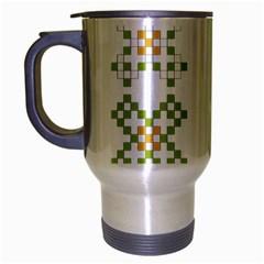 Vintage Pattern Background  Vector Seamless Travel Mug (silver Gray)