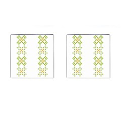 Vintage Pattern Background  Vector Seamless Cufflinks (square)