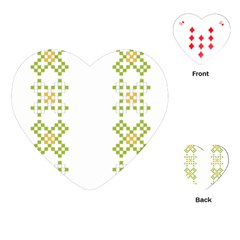 Vintage Pattern Background  Vector Seamless Playing Cards (heart)