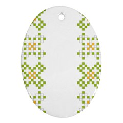 Vintage Pattern Background  Vector Seamless Oval Ornament (two Sides)