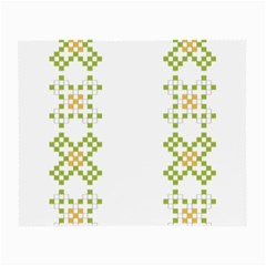 Vintage Pattern Background  Vector Seamless Small Glasses Cloth (2 Side)