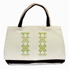 Vintage Pattern Background  Vector Seamless Basic Tote Bag (two Sides)