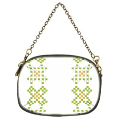 Vintage Pattern Background  Vector Seamless Chain Purses (two Sides)