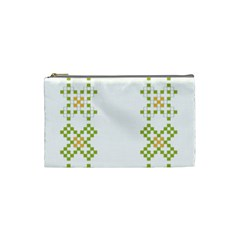 Vintage Pattern Background  Vector Seamless Cosmetic Bag (small)