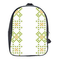 Vintage Pattern Background  Vector Seamless School Bags(large)