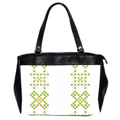Vintage Pattern Background  Vector Seamless Office Handbags (2 Sides)