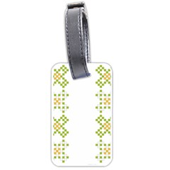 Vintage Pattern Background  Vector Seamless Luggage Tags (one Side)
