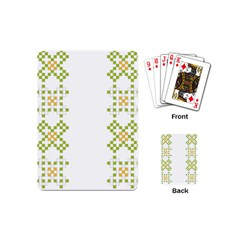 Vintage Pattern Background  Vector Seamless Playing Cards (mini)