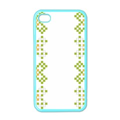 Vintage Pattern Background  Vector Seamless Apple Iphone 4 Case (color)