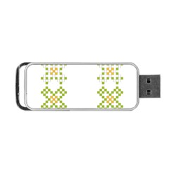 Vintage Pattern Background  Vector Seamless Portable Usb Flash (two Sides)