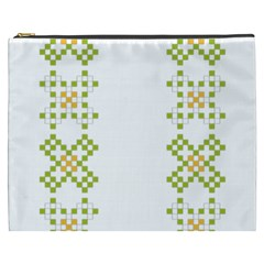Vintage Pattern Background  Vector Seamless Cosmetic Bag (xxxl)