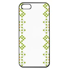 Vintage Pattern Background  Vector Seamless Apple Iphone 5 Seamless Case (black)