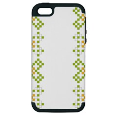Vintage Pattern Background  Vector Seamless Apple Iphone 5 Hardshell Case (pc+silicone)