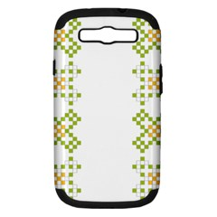 Vintage Pattern Background  Vector Seamless Samsung Galaxy S Iii Hardshell Case (pc+silicone)