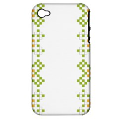 Vintage Pattern Background  Vector Seamless Apple Iphone 4/4s Hardshell Case (pc+silicone)