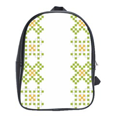 Vintage Pattern Background  Vector Seamless School Bags (xl)