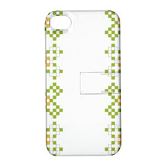 Vintage Pattern Background  Vector Seamless Apple Iphone 4/4s Hardshell Case With Stand