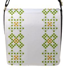Vintage Pattern Background  Vector Seamless Flap Messenger Bag (s)