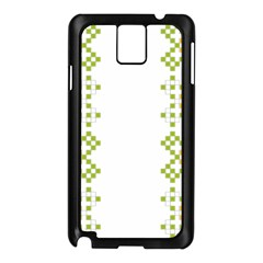 Vintage Pattern Background  Vector Seamless Samsung Galaxy Note 3 N9005 Case (black)