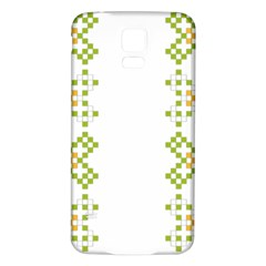 Vintage Pattern Background  Vector Seamless Samsung Galaxy S5 Back Case (white)