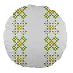Vintage Pattern Background  Vector Seamless Large 18  Premium Flano Round Cushions