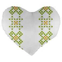 Vintage Pattern Background  Vector Seamless Large 19  Premium Flano Heart Shape Cushions