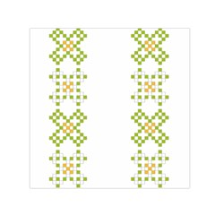 Vintage Pattern Background  Vector Seamless Small Satin Scarf (square)