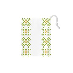 Vintage Pattern Background  Vector Seamless Drawstring Pouches (xs)