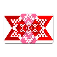 Valentine Heart Love Pattern Magnet (rectangular)