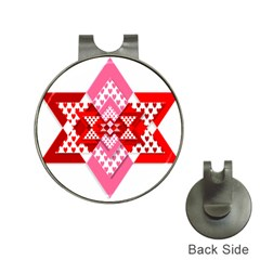 Valentine Heart Love Pattern Hat Clips With Golf Markers