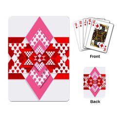 Valentine Heart Love Pattern Playing Card