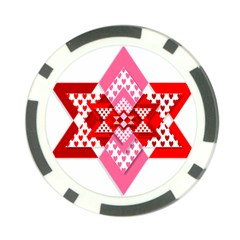 Valentine Heart Love Pattern Poker Chip Card Guard