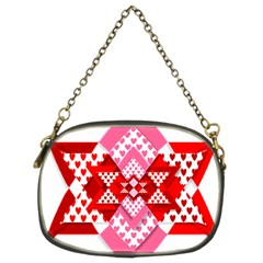 Valentine Heart Love Pattern Chain Purses (two Sides)