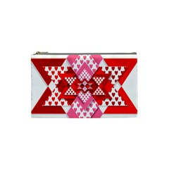 Valentine Heart Love Pattern Cosmetic Bag (small)