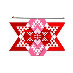 Valentine Heart Love Pattern Cosmetic Bag (large)