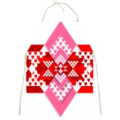 Valentine Heart Love Pattern Full Print Aprons