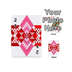 Valentine Heart Love Pattern Playing Cards 54 (mini)