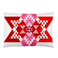 Valentine Heart Love Pattern Pillow Case (two Sides)
