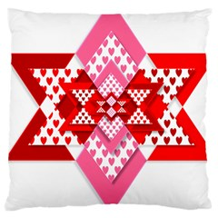 Valentine Heart Love Pattern Large Cushion Case (one Side)