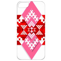 Valentine Heart Love Pattern Apple Iphone 5 Classic Hardshell Case
