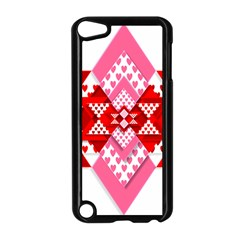 Valentine Heart Love Pattern Apple Ipod Touch 5 Case (black)