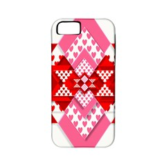Valentine Heart Love Pattern Apple Iphone 5 Classic Hardshell Case (pc+silicone)