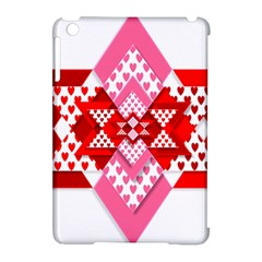 Valentine Heart Love Pattern Apple Ipad Mini Hardshell Case (compatible With Smart Cover)