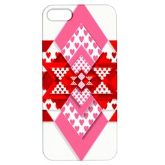 Valentine Heart Love Pattern Apple Iphone 5 Hardshell Case With Stand