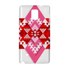Valentine Heart Love Pattern Samsung Galaxy Note 4 Hardshell Case