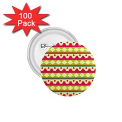 Tribal Pattern Background 1.75  Buttons (100 pack)