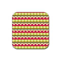 Tribal Pattern Background Rubber Square Coaster (4 Pack)