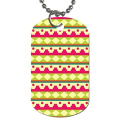 Tribal Pattern Background Dog Tag (two Sides)