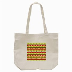 Tribal Pattern Background Tote Bag (cream)